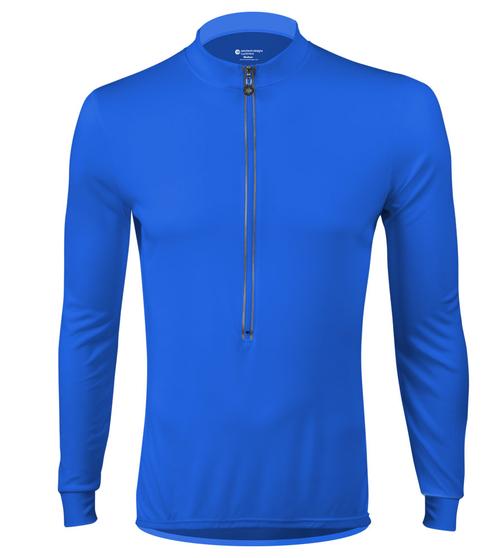... Aero Tech Wicking Long Sleeve Cycling Jersey Royal Blue Front ... f9b1f944e