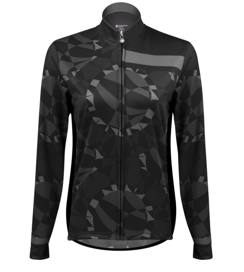 3c55831a9e7 Aero Tech Women's Empress Long Sleeve Jersey - Mosaic - Brushed Fleece -  Printed Thermal Cycling Jersey - USA Made