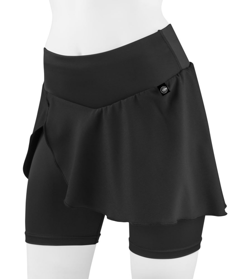 Aero Tech Women's Cycling Skort with PADDED Slenderizing Bike Skirt