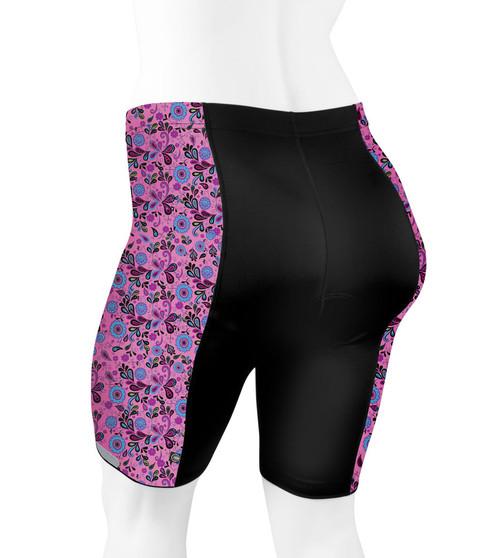 eff35179259 ... USA  Aero Tech PLUS SIZE Women s Gina PADDED Cycling Shorts - Pink  Paisley - Made in ...