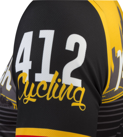 09507c36c6b Pittsburgh Themed Bike Jersey    Proudly Made In Pittsburgh