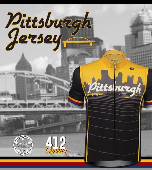 b1d9d7b3cd0 ... Pittsburgh Theme Sprint Bike Jersey Kit Panel  Made in Pittsburgh
