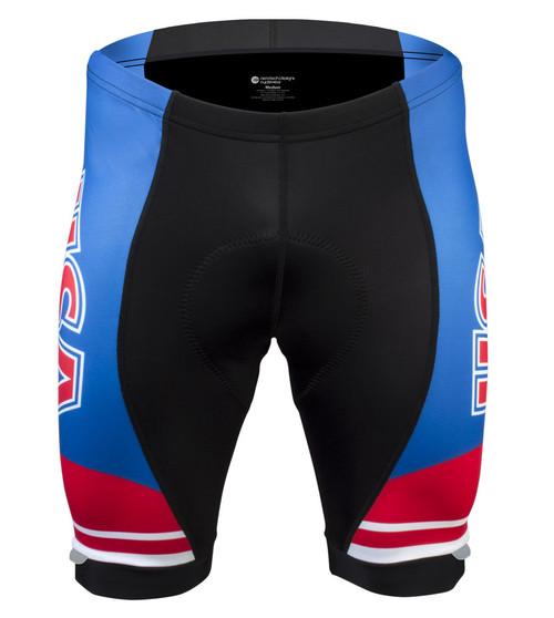 Aero Tech Men's Peloton Shorts - USA Patriotic - Red/White/Blue Made in the USA