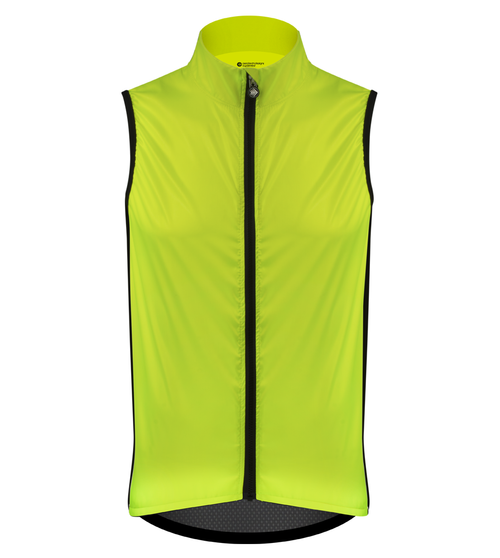 Aero Tech Windbreaker Packable Vest  High Visibility Gilet Made in USA
