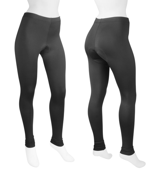 Women's Stretch Fleece Padded Cycling Tights