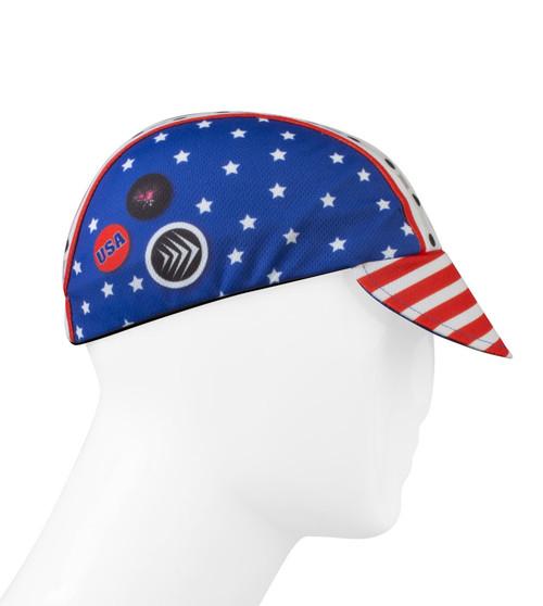 Aero Tech Rush Cycling Caps - Uncle Sam Patriotic Red /White/ Blue