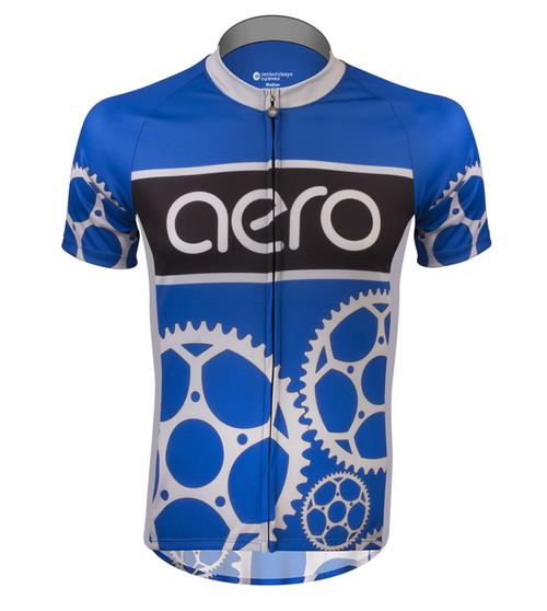 Aero Tech Designs Sprocket Man Peloton Cycling Bike Jersey Made In USA