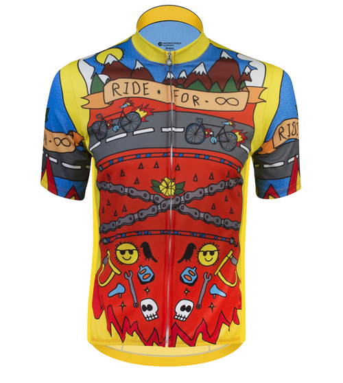 Aero Tech Printed Cycling Jersey Ride for Infinity Front View