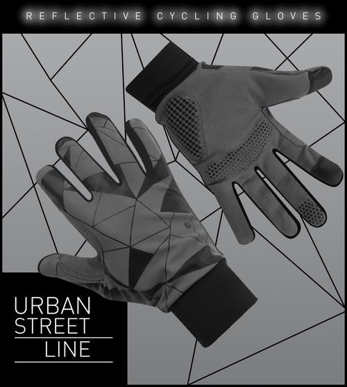 Aero Tech Urban Street Line Reflective Cycling Glove