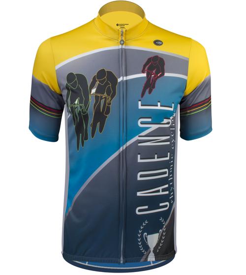 Aero Tech Tall Men's Cadence Sprint Cycling Jersey Front View