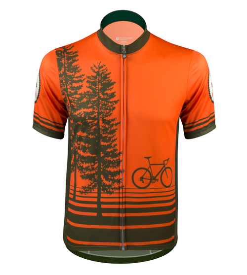 Aero Tech Tree Adventures Sprint Cycling Jersey Front View