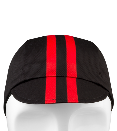 Aero Tech Rush Cycling Caps - Classic Red Stripe - Made in USA
