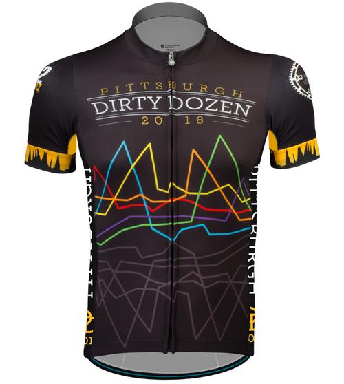 Aero Tech Premiere Dirty Dozen Cycling Jersey Front View