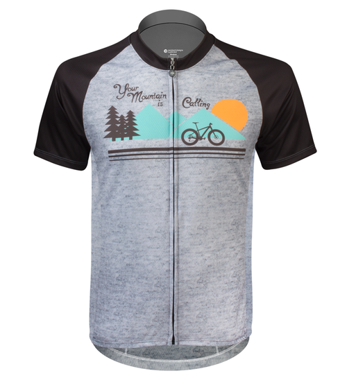 Aero Tech Peloton Jersey Your Mountain is Calling Front View