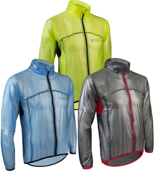 Womens Cycling Waterproof Rain Jacket High Visibility Running Top Coat S to XL