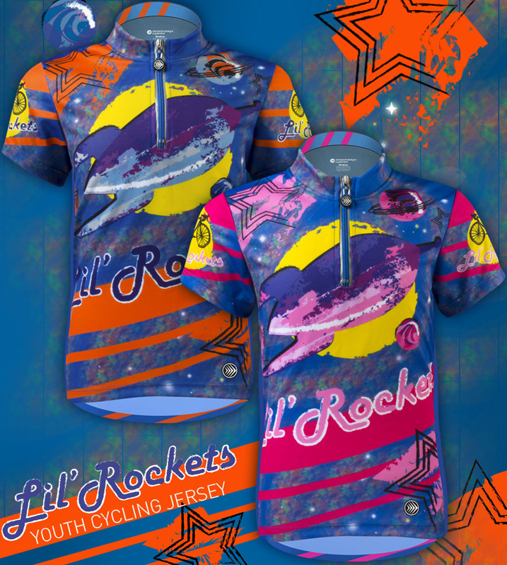 ... Aero Tech Youth Jersey - Lil Rockets - Orange Pink - Cycling Jersey  Blast Off ... bda8d5239