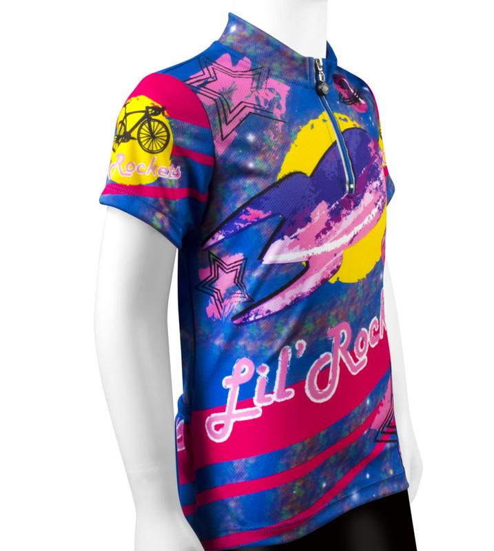 Aero Tech Youth Jersey - Lil Rockets - Orange Pink - Cycling Jersey Blast  Off ... e5bd0e904