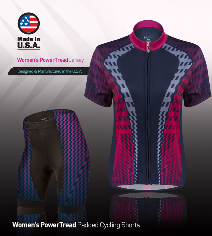 f2a03d1f4 ... Aero Tech Women s Empress Jersey - Power Tread - Pink - Cycling Jersey  Made in ...