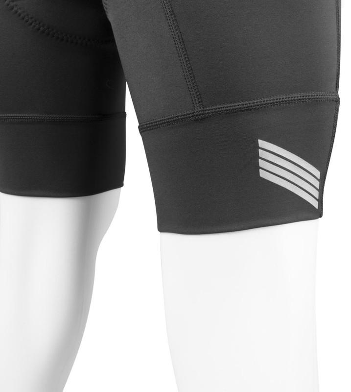 9fe3279cb Aero Tech Men s Destination Bike Shorts - PADDED Black Pearl Pad and  Elastic Free Leg Cuffs ...