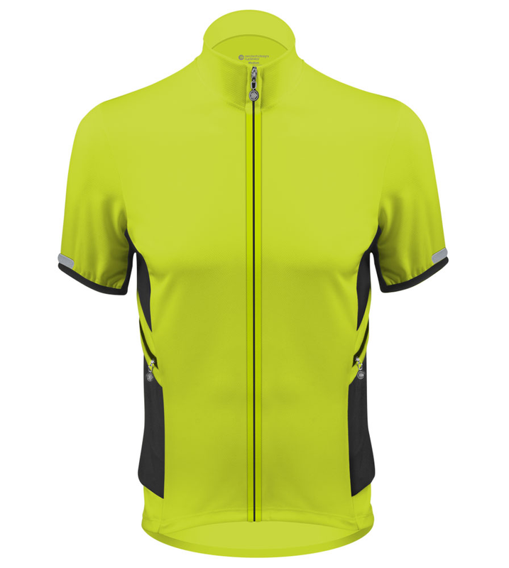 ... Aero Tech Elite Recumbent Bicycle Jersey in Safety Yellow Front ... 881d7c579