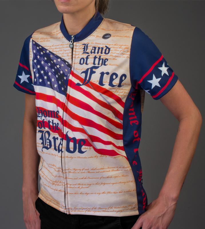 69d56e51a ... Aero Tech Women s Empress Patriot Cycling Jersey Front Model ...