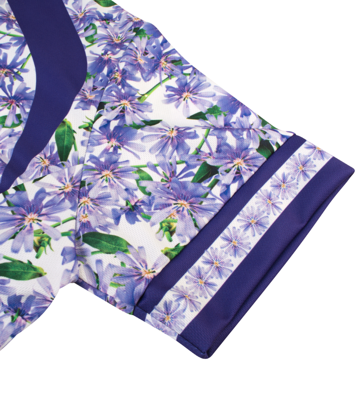 Aero Tech PLUS SIZE Women/'s Liddy Jersey Purple Flowers Plus Size Cycling Jersey