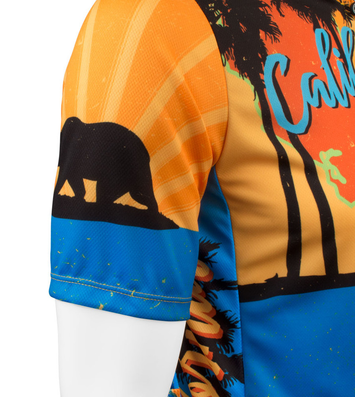 Made in USA California Cycling Jersey Aero Tech Sprint West Coast Tropical