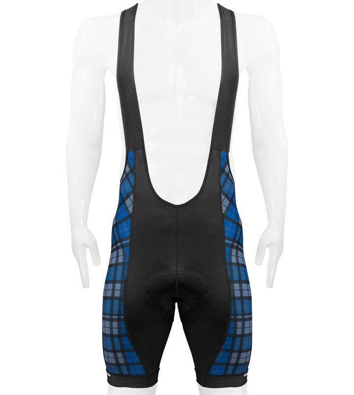 Long Cycling Bib Shorts US Made Aero Tech TALL Men/'s Premier Bibs Blue Plaid