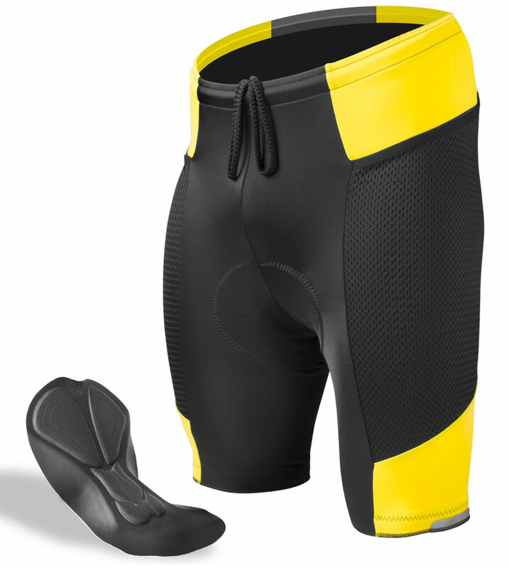 KJX5239 Road Men Team Bicycle Cycling Polyester GEL Padded bib Shorts