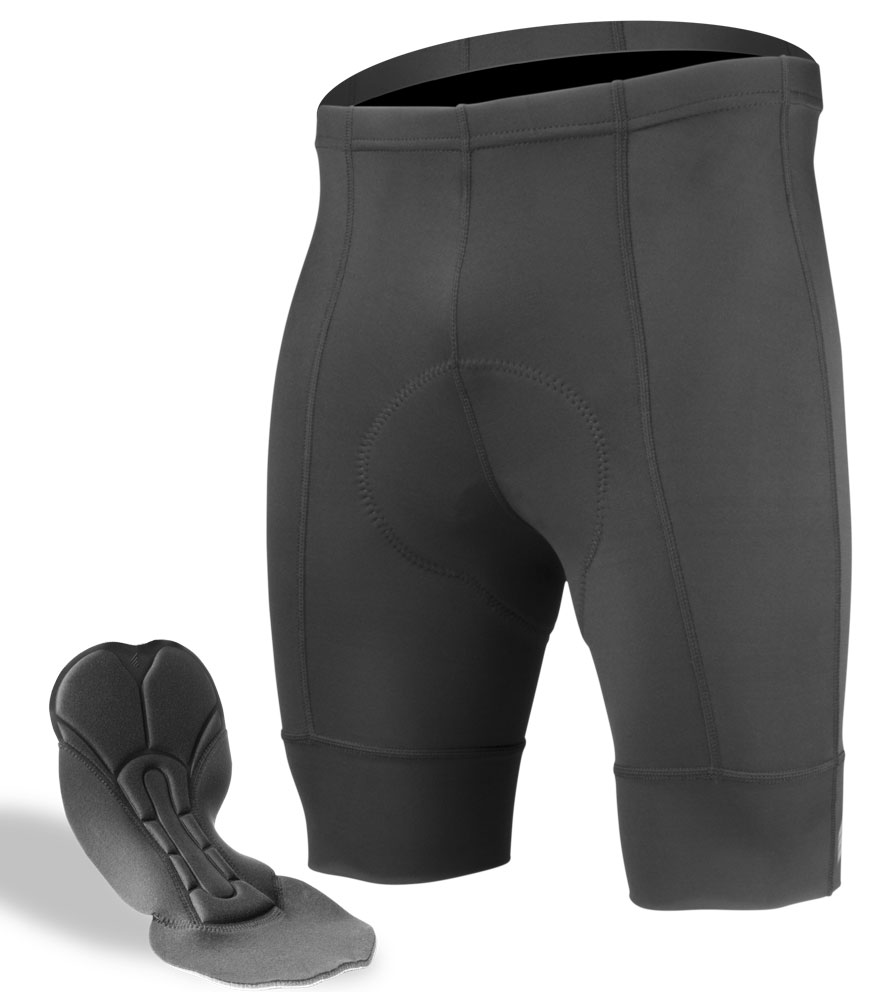 719f61dcd Aero Tech Men s Destination Bike Shorts - PADDED Black Pearl Pad and  Elastic Free Leg Cuffs