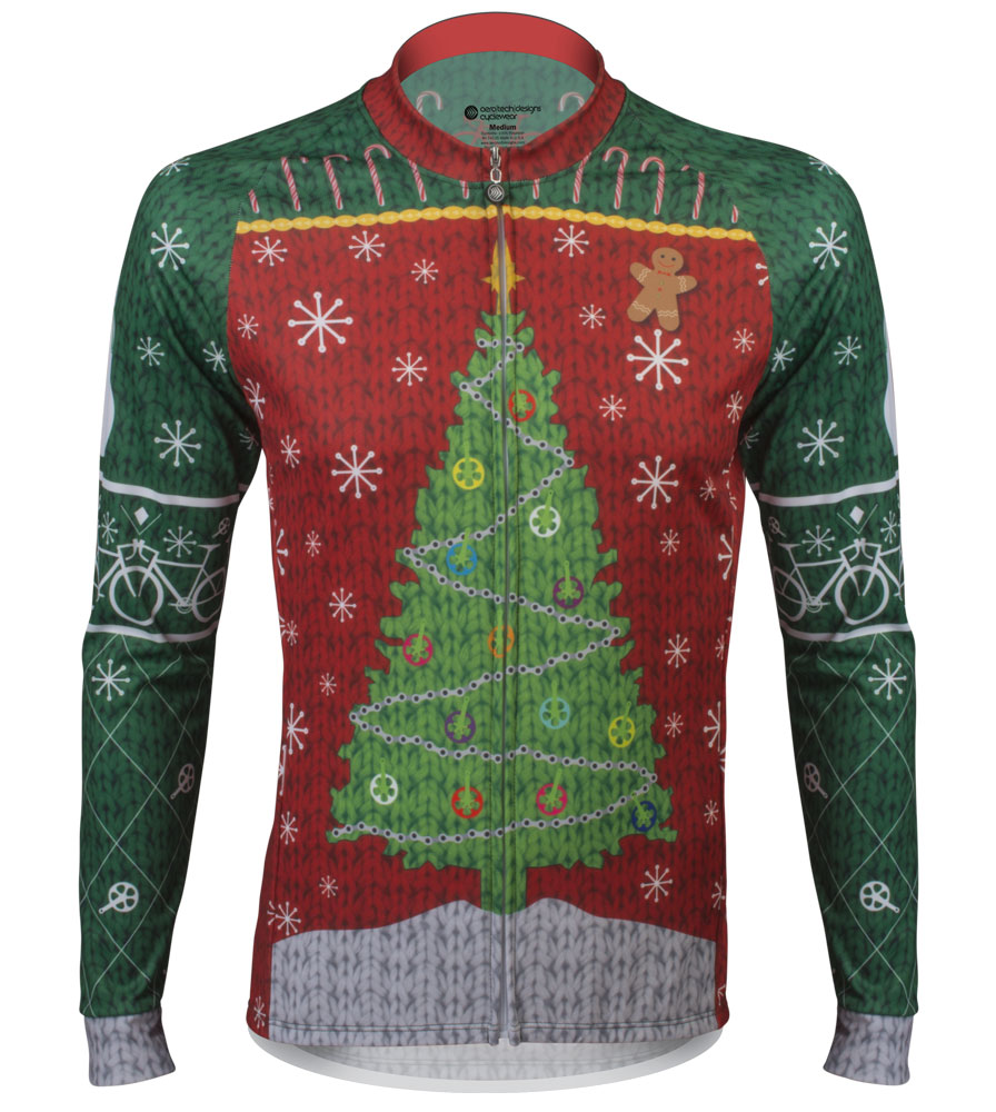 eafe7f189 Aero Tech Peloton Long Sleeve Jersey - 2015 Holiday Jersey - Brushed Fleece