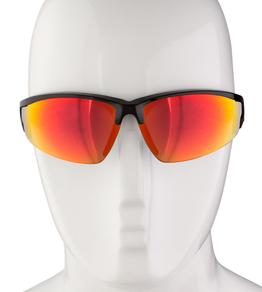 cdd4a9854ee Aero Tech Triumph Ruby Mirror Wrap Cycling Sunglasses