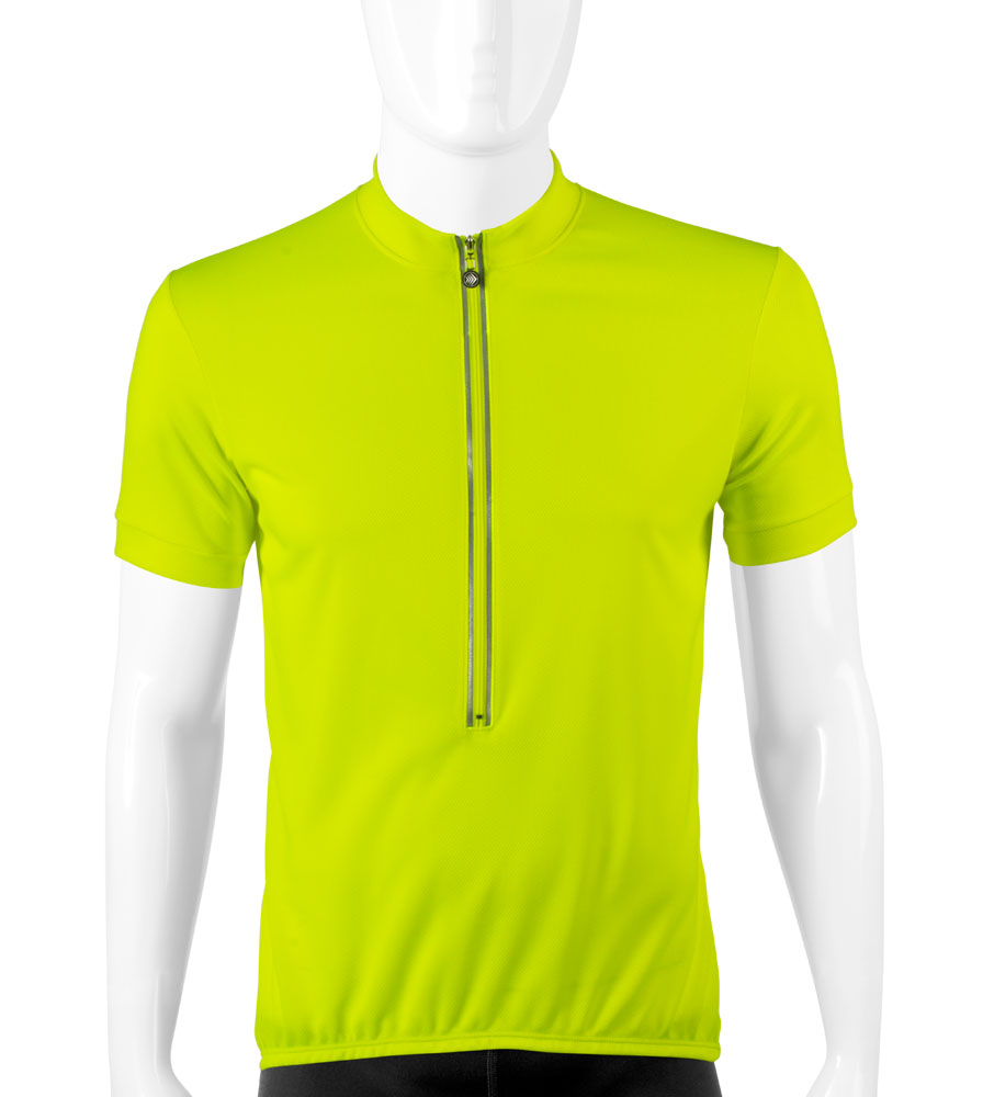 ATD TALL Short Sleeve High Vizibility Safety Yellow Cycling Jersey b7d189ce5