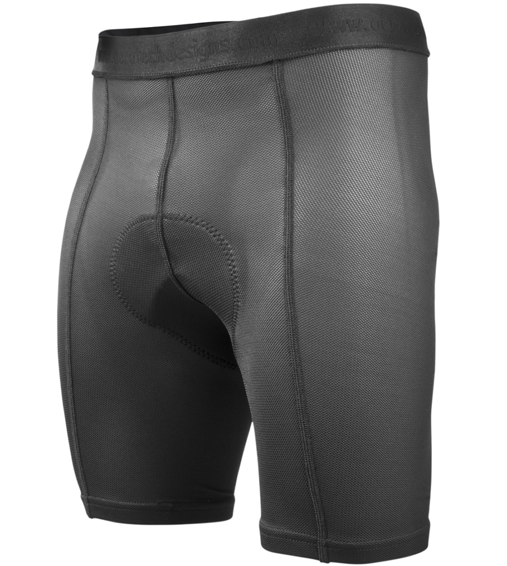 Aero Tech Men s PADDED Bicycle Touring Underwear - Under Liner Short - Thin  Pad e8cc1a0c6