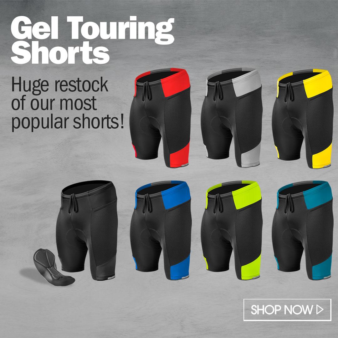 gel touring bike short