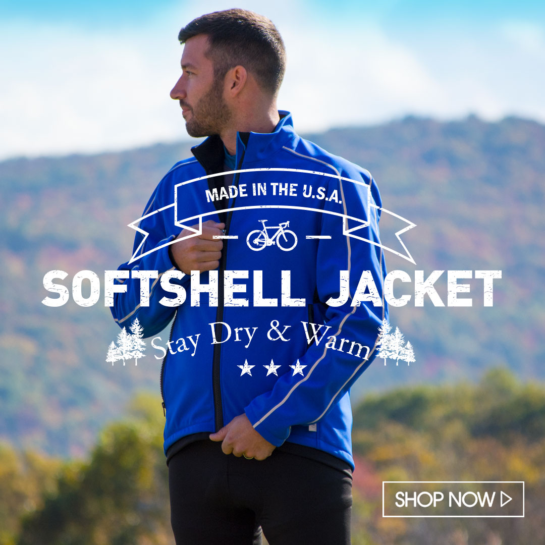 usa made softshell cycling jacket