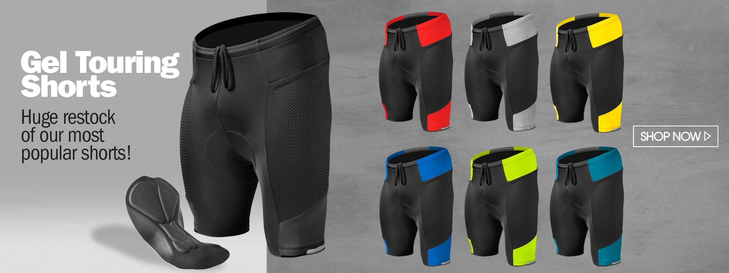gel touring bike shorts