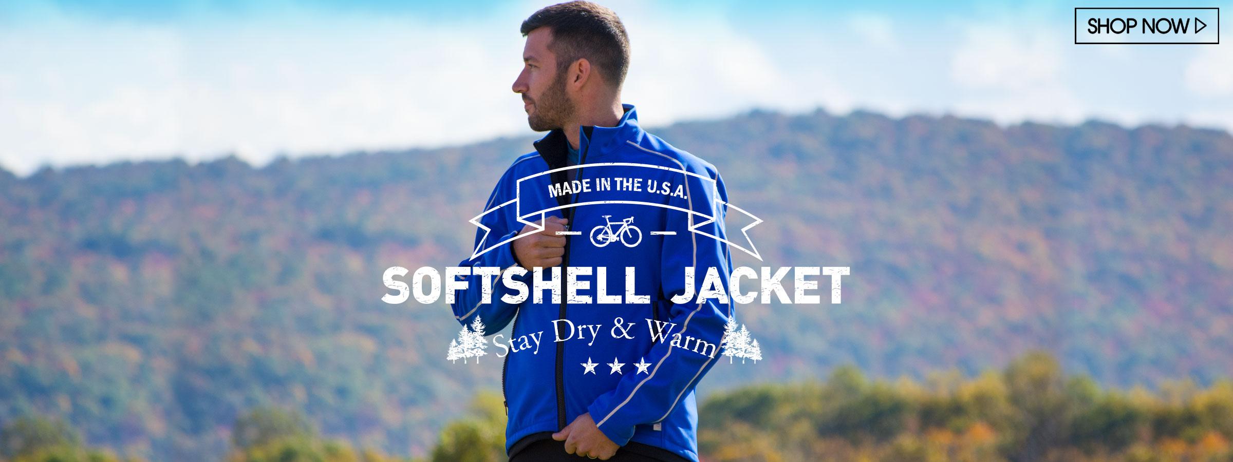 usa softshell cycling jacket