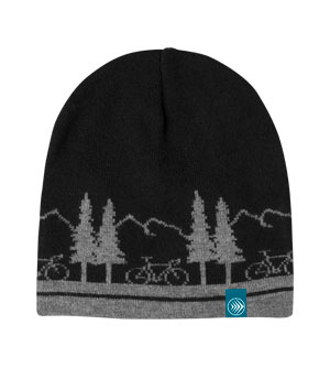 Cold Weather Bike Theme Beanie
