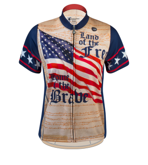 womens patriot cycling jersey