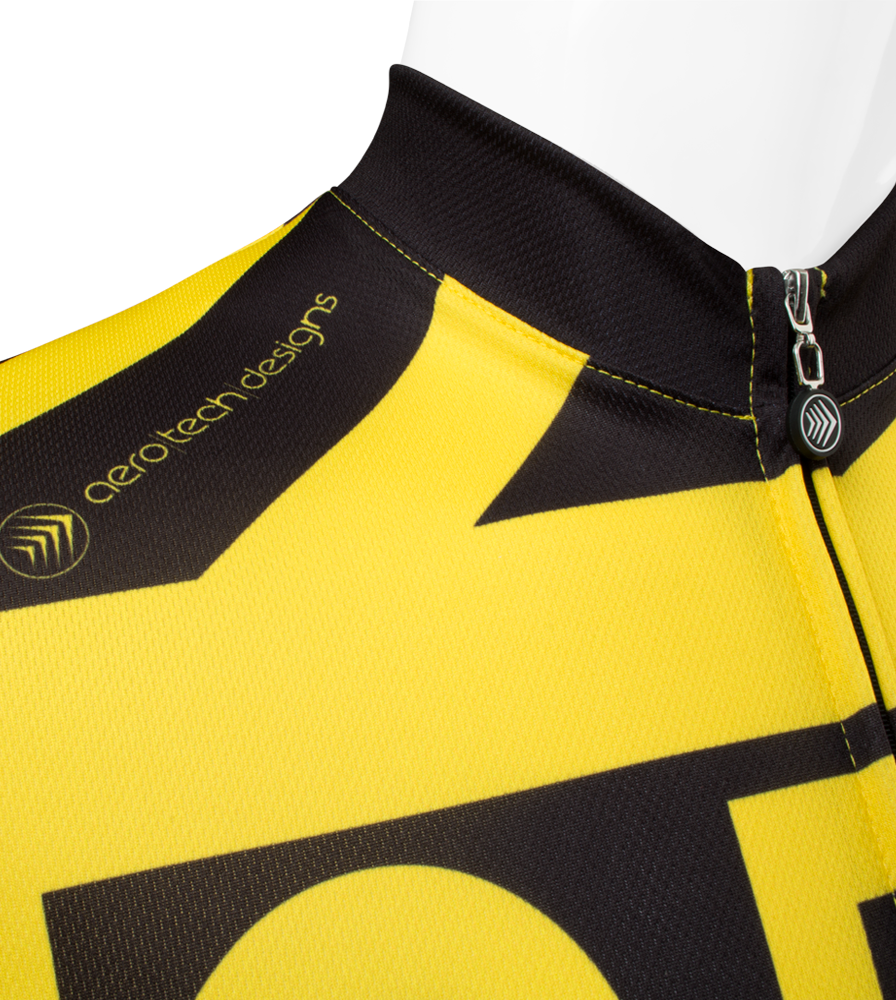 3 Feet It's The Law Safety Cycling Jersey Collar Logo Detail