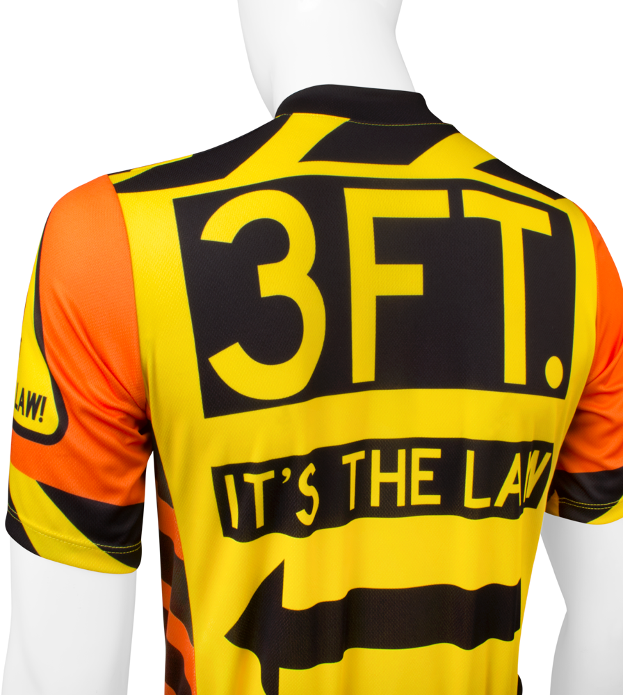 3 Feet It's The Law Safety Cycling Jersey Top Back View