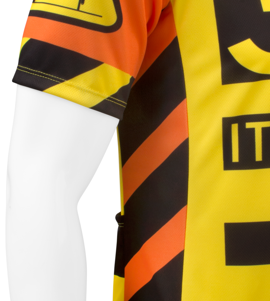 3 Feet It's The Law Safety Cycling Jersey Side Panel Detail