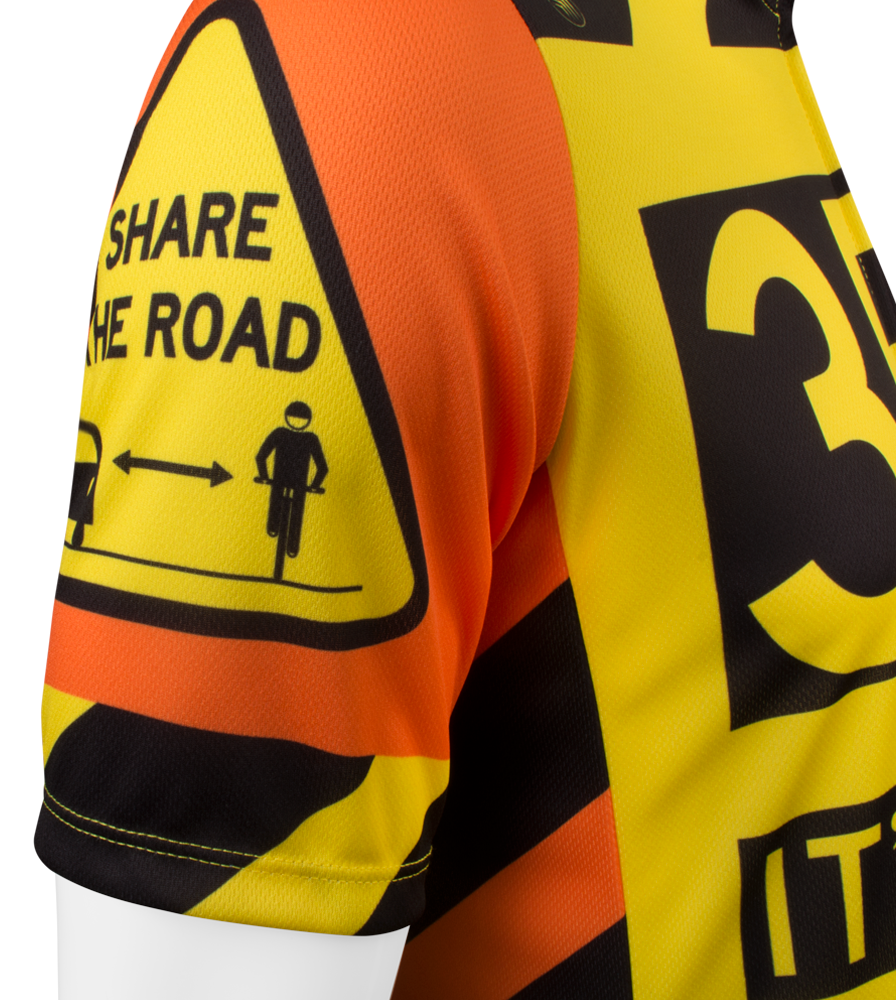 3 Feet It's The Law Safety Cycling Jersey Sleeve Detail
