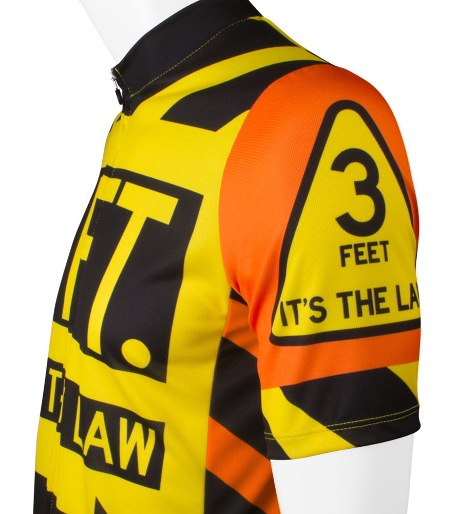 3 Feet It's The Law Safety Cycling Jersey Side Sleeve Detail