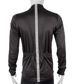 Safety Reflective Cycling Jacket in Black Back View
