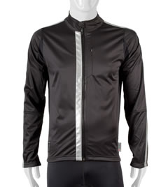 High Visibility Reflective Jacket in Black Front View