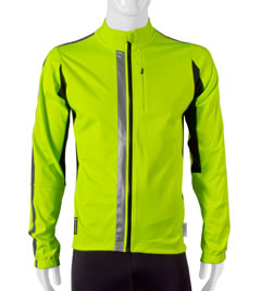 Safety Reflective Cycling Jacket in Safety Yellow