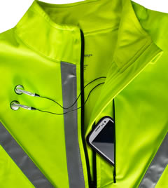 Safety Reflective Cycling Jacket Front Pocket