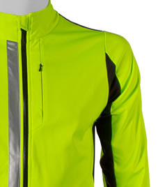 High Visibility Reflective Jacket Top Front View